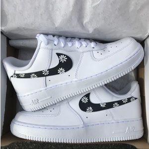 Custom Daisy Flower Air Force 1 Shoes